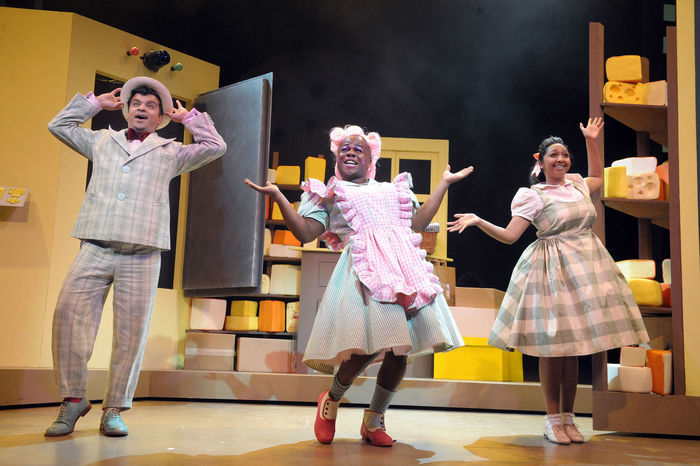Gurpreet Singh, Delroy Atkinson and Rose-Marie Christian in Dick Whittington