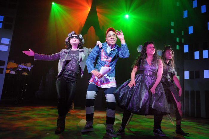 Miranda Menzies, Ashley Gerlach, Shelley Williams and Nicole Davis in Dick Whittington