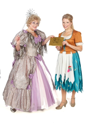 Helen Watson (Fairy Godmother) and Anna Mitcham (Cinderella)