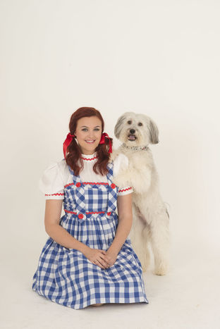 Ashleigh and Pudsey (Dorothy and Toto)